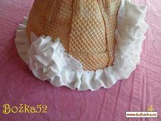 Украшение торта вафельной пластинкой