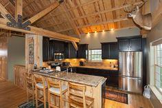 Kitchen - Wood Barn Home | Sand Creek Post Beam https://www.facebook.com/SandCreekPostandBeam