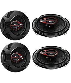 """""""PIONEER SPEAKERS TS-R1650S 6 Inch Shallow Mount 3-Way Speaker (250 W)- pair of speakers2"""