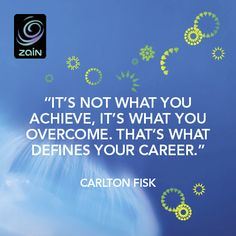 """""""it's not what you achieve, it's what you overcome. that's what defines your career."""""""