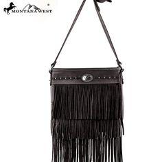 Montana West MW170-8287 Fringe Messenger Bag