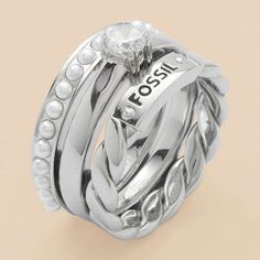FOSSIL® Jewellery Rings:Women Stainless Steel Ring JF87066