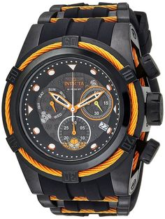 13fce805767 Invicta 25001 Character Collection Men s 53mm Stainless Steel Black Orange  Watch