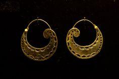 Tribal Brass Hoops