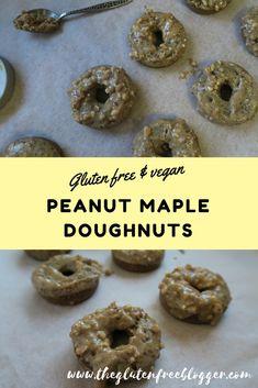 TEFF - maple peanut baked doughtnuts