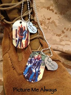 His And Hers Deployment Dog Tag Set via Etsy