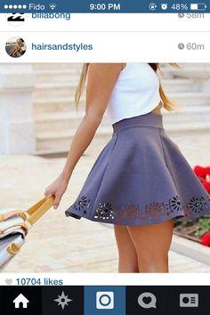 The grey skirt