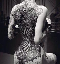 Mandala full back tattoo - 100 Awesome Back Tattoo Ideas  <3 <3