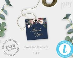 Wedding Favor Tags Template Printable Rustic Thank You Kraft Gift Instant Download For