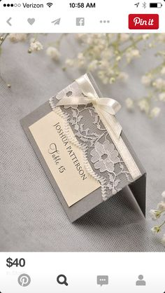 Elegant place cards