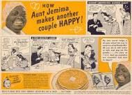 aunt jemima makes another couple happy. how about a big kiss with syrup? Vintage Advertisements, Vintage Ads, Vintage Food, Retro Ads, Vintage Posters, Vintage Items, Aunt Jemima Pancakes, North American Tribes, Poster Vintage