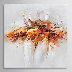 pintura al óleo pintada a mano abstracta bailarina de ballet con el marco de estirado 2016 – €88.19