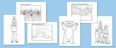 Early Learning Resources We're Going on a Bear Hunt Colouring Sheets Bear Coloring Pages, Free Printable Coloring Pages, Coloring Sheets, Retelling Activities, Book Activities, Learning Resources, Forest School Activities, Teddy Bear Party, Kids Activity Books