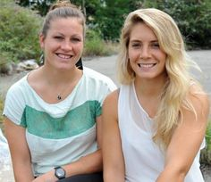 Marjorie et Manon heureuses après la Coupe du Monde féminine de rugby - La Dépêche - 20/08/2014