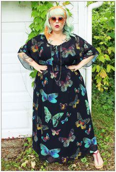 Fatshion Peepshow: Addition Elle Butterfly Maxi