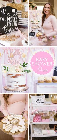 My Baby Shower Decor and Details Akron Ohio pregnant pregnancy maternity baby girl pink gold white angela lanter hello gorgeous