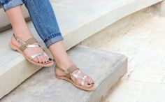 Limited edition  Grecian style leather sandals by by AlmyraSandals
