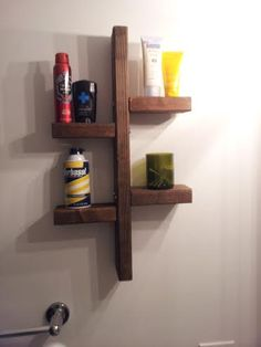 Upcycled Reclaimed 2x4 Wood Shelf For Kitchen Bathroom Man Cave