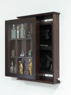50 Awesome Hidden Gun Storage Furniture Ideas - Page 21 of 40 Secret Gun Storage, Hidden Gun Storage, Weapon Storage, Hidden Compartments, Secret Compartment, Hidden Spaces, Hidden Rooms, Hidden Gun Cabinets, Hidden Gun Safe