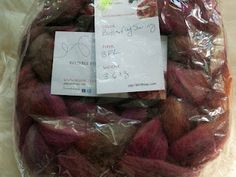 Another gorgeous fiber giveaway on PhatFiber today - this one a BFL top from BeesyBee Fibers