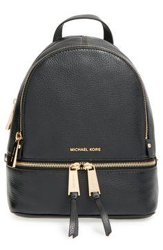 2f292681f MICHAEL Michael Kors  Small Rhea Zip  Leather Backpack Projetos
