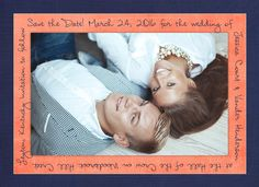 Keep the focus on your love with 1-2 photo handwriting save the date card design! Have us keep your photos in original color, convert them to black & white