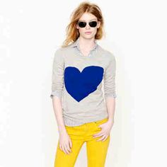 J Crew Tippi Sweater in Heart Me