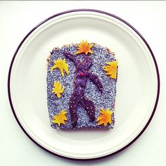 Famous Paintings on Toast by Ida Skivenes