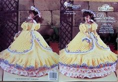 THREAD-crochet-GOWN-DRESS-CLOTHES-Patterns-11-1-2-Barbie-size-DOLL-You-Choose