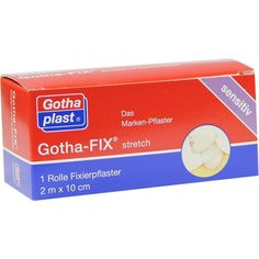 GOTHA FIX Stretch 2mx10cm:   Packungsinhalt: 1 St PZN: 01873983 Hersteller: Gothaplast GmbH Preis: 6,16 EUR inkl. 19 % MwSt. zzgl.…