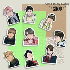 These NCT 127 stickers are great for kpop journals or planners! Exo Stickers, Tumbler Stickers, Printable Stickers, Cute Stickers, Wallpaper Iphone Disney, Wallpaper Lockscreen, Korean Anime, Fanart, Nct Yuta