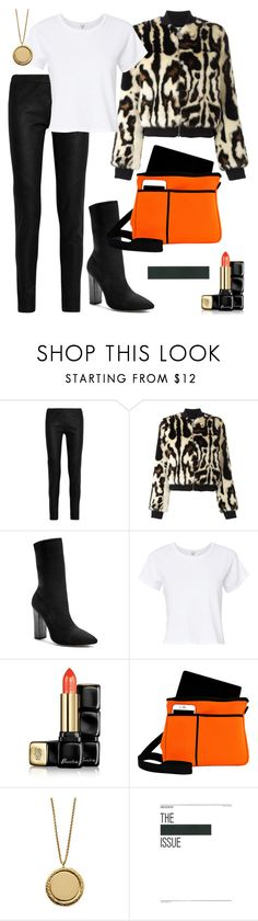 """""""Crush!"""" by schenonek ❤ liked on Polyvore featuring Gareth Pugh, Carven, GUESS by Marciano, RE/DONE, Guerlain, NuFoot and Underscore"""