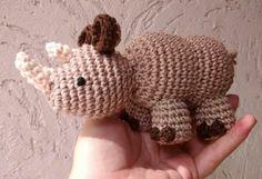 Rinoceronte Amigurumi