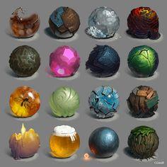 3D材质研究图包含:喷溅的可口可乐、生锈...@Dough采集到教程收集(33图)_花瓣插画