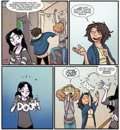 The Most Interesting Comics of the Week. John Allison of webcomic Scary-go-Round has a new comic book coming out. Brain Teaser Games, Boom Studios, Everywhere You Go, Comic Books, Comic Art, Storyboard, Fun Facts, Drama, Cartoon