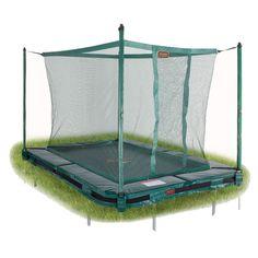 Avyna Pro-line 275x190cm maahan upotettava trampoliini turvakehällä! Saatavilla harmaana ja vihreänä!  Katso lisää: http://www.tasapeli.fi/product/397/maatrampoliini-avyna-pro-line-275x190cm-turvaverkolla  #trampoliini #avyna #trampolines