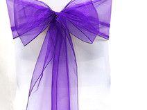 Organza Stuhlschleife dunkel violett/lila Hochzeit