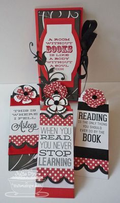 Bookmark Duo Die-namics and Stamp Set, Layered Rose Die-namics - Julie Dinn