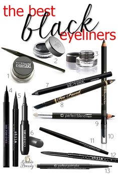 These are the best black eyeliners! They are well pigmented, won't smear or smudge and apply perfectly. What's your favorite eyeliner?