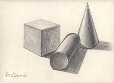 shapes drawing geometric shading geometrical pencil elements square cylinder sphere forms drawings basic sketches sketching circle google cone cube geometry