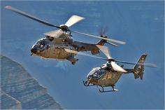 Swiss Air Force Super Puma and EC635