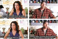 Gilmore Girls! Luke and Lorelai are beautiful.