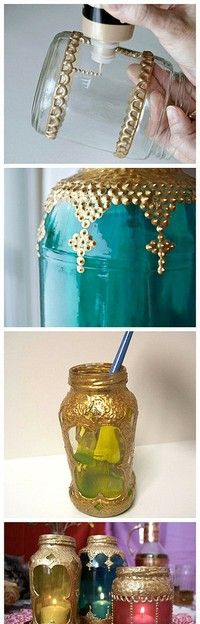 glam mason jar lights - link doesn't help, but am curious how they did this?