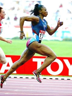 Gail Devers of the USA won the 100 metres sprint at the 1992 Olympics in one of the closest races in history. Five women finishing within 0.06 seconds of each other.