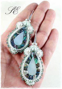 Orecchini paua, wedding jewelry,