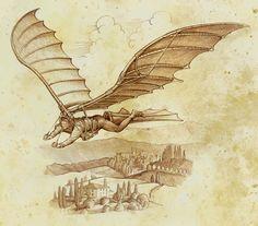 Ornithopter - Pastiche - Linework