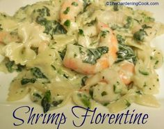 Here's a creamy recipe for shrimp Florentine that is quick and so delicious! I love the taste of shrimp and spinach together.