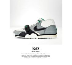 The Genealogy of Nike Training - Page 5 of 6 - SneakerNews.com Vintage Sneakers, Retro Sneakers, Casual Sneakers, Sneakers Fashion, Shoes Sneakers, Tenis Basketball, Old Nikes, Nike Poster, Nike Kicks