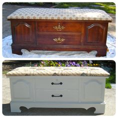 Redoing this hope chest was so easy I love restoring furniture :)