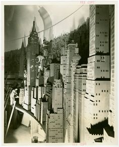 """""""City of Lights"""" Diorama created by Consolidated Edison for the 1939 World's Fair. From the New York Public Library."""